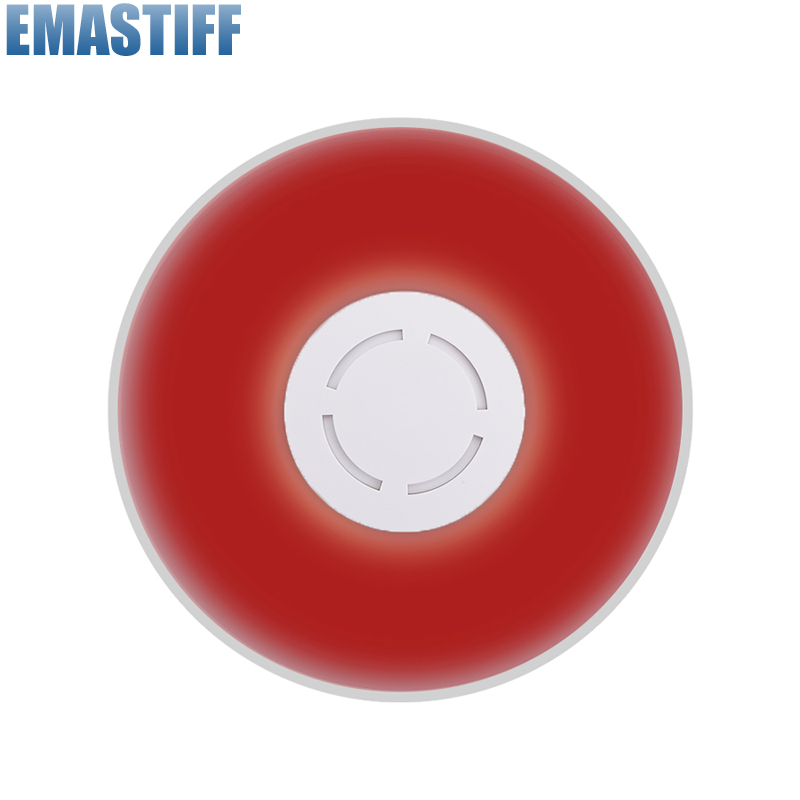 315mhz MHz Wireless Flash Siren Alarm Siren Horn Red <font><b>Light</b></font> Strobe Siren For C2B/C3B Home Alarm System Security kit