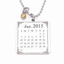 Fashion Necklace For Women Men Pendant & Necklace Personalized Custom Calendar Necklace Birthday Christmas Gift