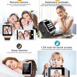 Image 2 - 블루투스 애플 시계 카메라 2g sim tf 카드 슬롯 스마트 시계 남자 여자 전화 안 드 로이드 아이폰 xiaomi 러시아 t15