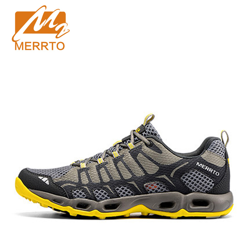 ФОТО MERRTO Outdoor Running Shoes For Man &Woman Light Weight Mesh Breathable From Russia Sneakers Lovers Outdoor Sport Shoes