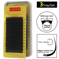 mink eye lash extension individuals 3tray/set natural eyelashes extension 0.15 flat mink eyelashes individual