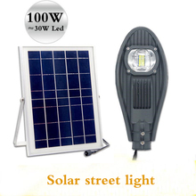 LED integrated solar street lights 50W 100W brightness home garden landscape factory square municipal road lighting Smart lights