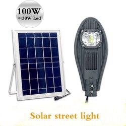 LED luci di via solare integrato 50 W 100 W luminosità casa giardino paesaggio fabbrica piazza comunale illuminazione stradale luci Intelligenti