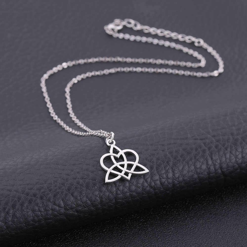 Dawapara 2019 nowy naszyjnik z srebrne serce naszyjnik dla kobiet i mężczyzn biżuteria