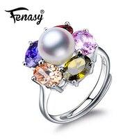 FENASY joyería de la perla natural de agua dulce mujer, Anillos de boda para las mujeres, anillo de compromiso rubí retro joyería alibaba expreso