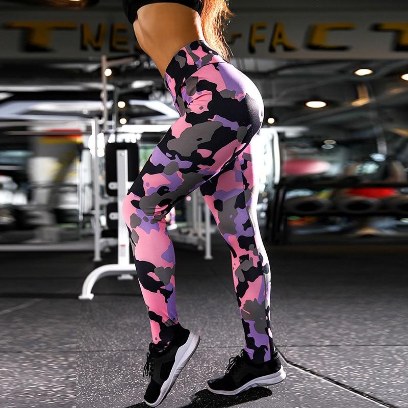 ZOGAA Cross border Europe And America New Digital Printing Camouflage women Pants Hip High Waist Leggings Female in Leggings from Women 39 s Clothing