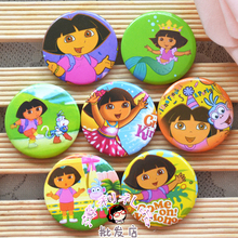 40PCS Cute Dora style badge brooch  baby girl birthday party decoration kids gift favor