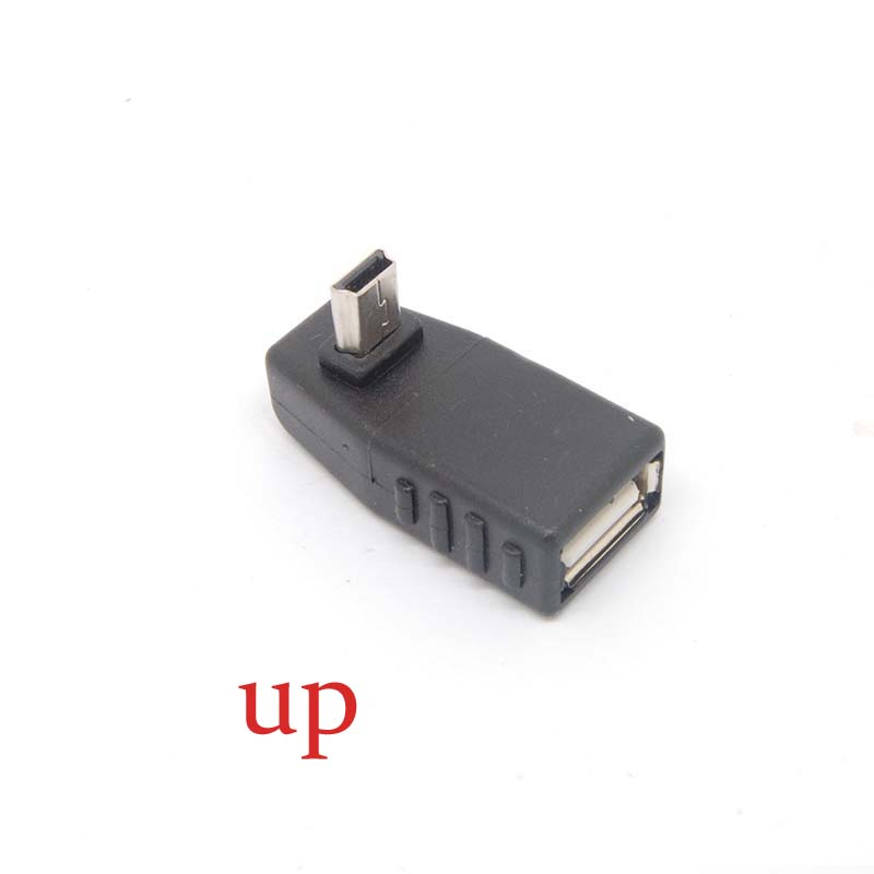 Free Shipping90 Degree Up Angle New A Female To 5-pin B Male Mini USB OTG Host Adapter USB2.0 Free Shippingnew