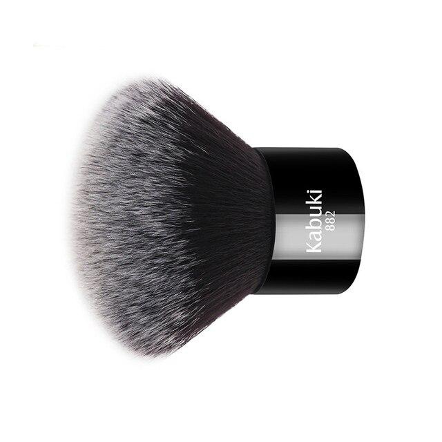 Zoreya Brand Women Fashion Black Kabuki Brush Soft Synthetic Hair Face Makeup Tools Portable To Take And Easy To Use 2