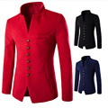 Bomber Men Jacket Man Yeezus windbreaker Trench Coat England Style Botton 2016 Winter Coat Fashion Mens Jackets Overcoat Gentle