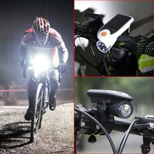 Bike LED Solar USB 2.0 Rechargeable Front Head Light Headlight Lamp Bicycle Accessories With Solar Energy 3 Brightness Modes(China)