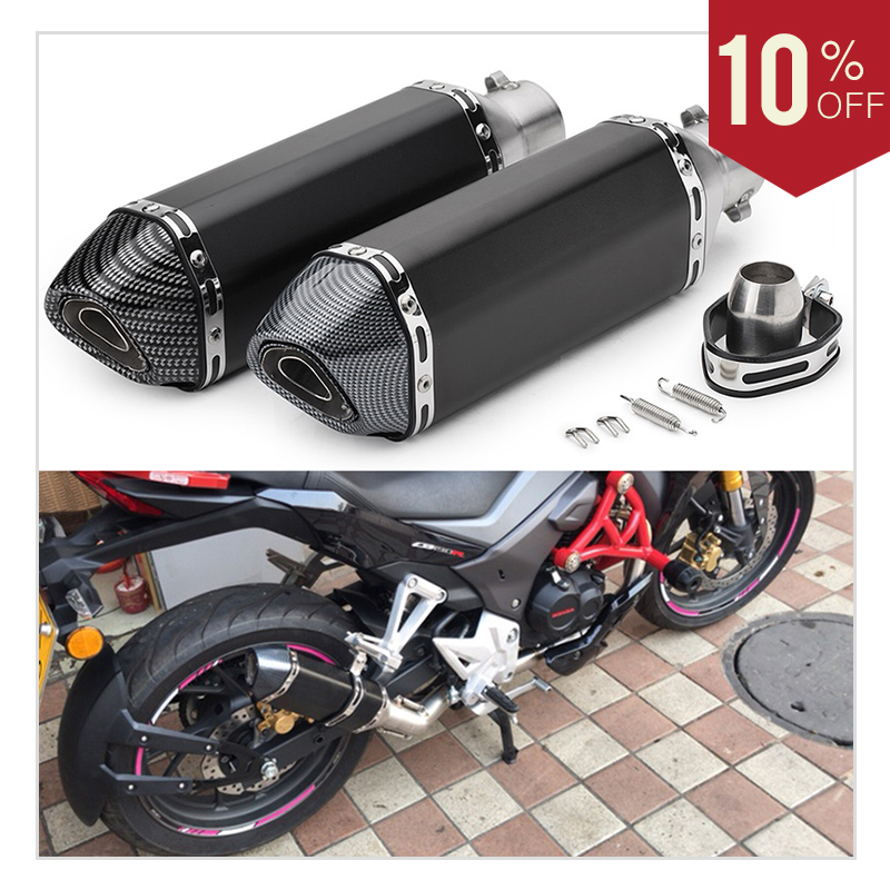 Universal 51mm Motorcycle Exhaust Pipe Muffler Escape Pipe With DB Killer ATV Dirt Pit Bike For Honda CB400 R6 Z900 CBR250 MT07