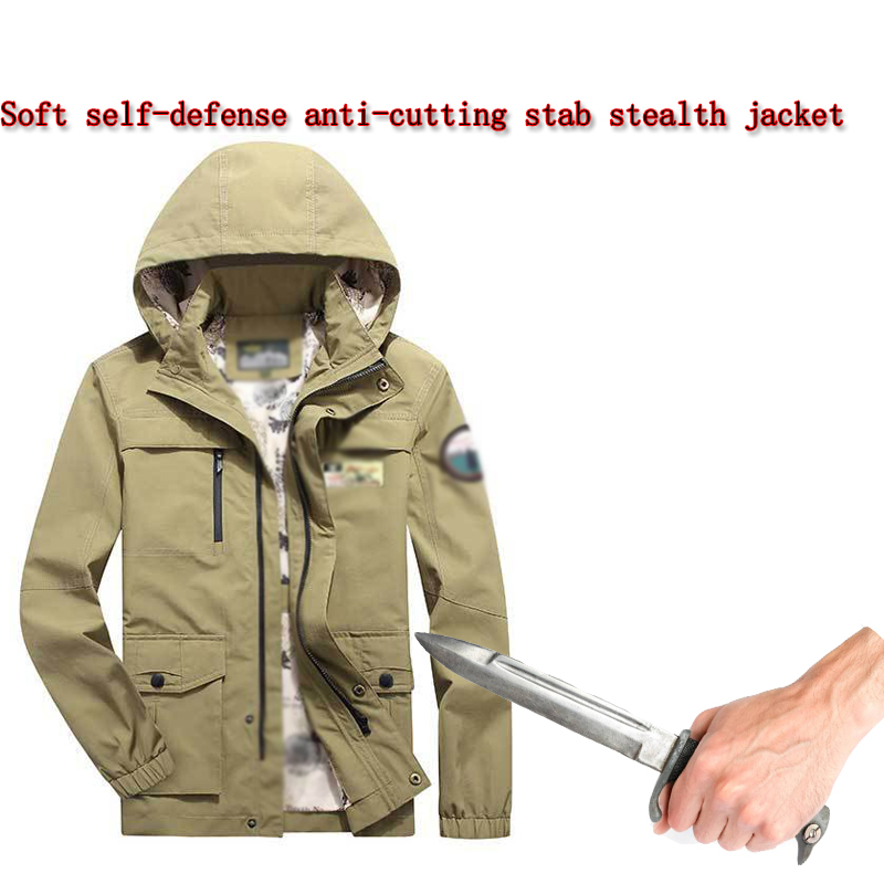 Anti-cutting Stab-resistant Jacket Self-defense Self-defense Soft Invisible Safety Protective Clothing Tactical Police Coat