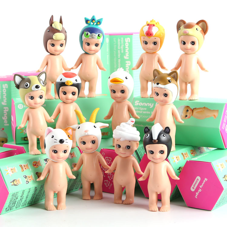 Sonny Angel Animal Series Version  PVC Action Figure Collectible Model Toy 12pcs/set 8cm KT2139 sonny angel mini pvc figures animal series version 4 baby toys dolls 12pcs set 8cm dsfg352