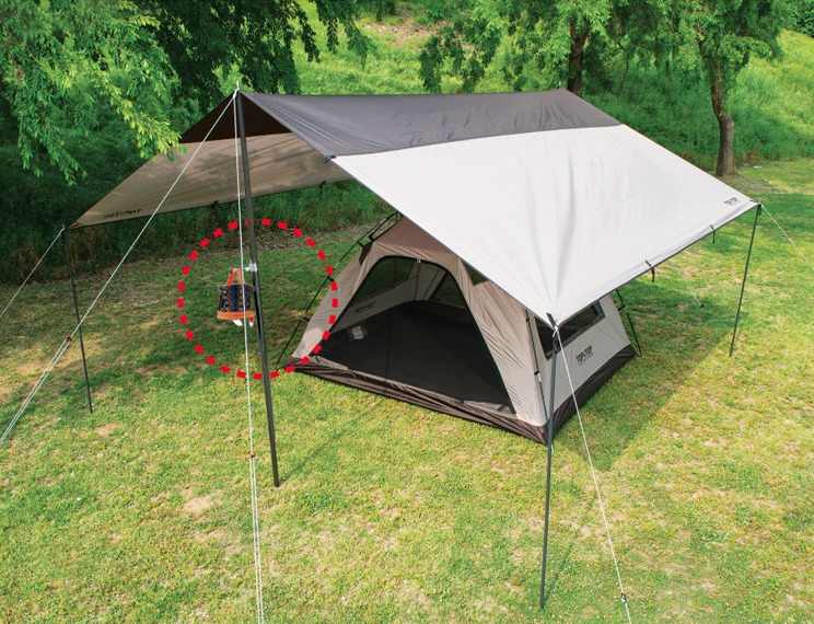 Anti-Slip Metal Clamp Outdoor Camp Lantern Light Lamp Hanger Tent Pole CO