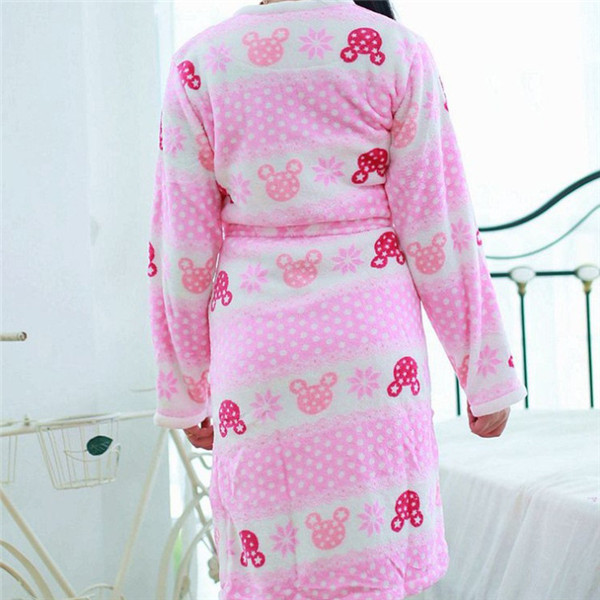 9219c5a15c Winter Lounge Women Bath Robe Two piece Pajamas Warm Coral Velvet Robes  Suit Dressing gown Sexy Bathrobe with Small Dress Pink-in Robes from  Underwear ...