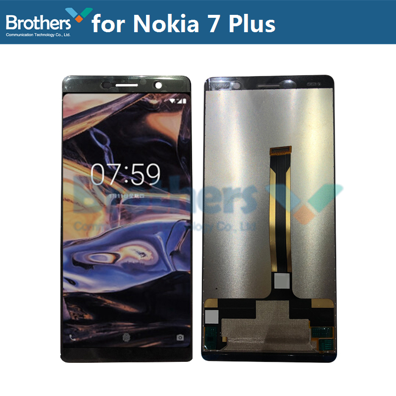 For Nokia 7 Plus LCD Display Touch Screen Digitizer for Nokia 7 Plus LCD Assembly LCD Screen Phone Replacement Test Working TopFor Nokia 7 Plus LCD Display Touch Screen Digitizer for Nokia 7 Plus LCD Assembly LCD Screen Phone Replacement Test Working Top