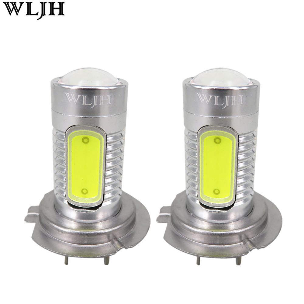 Prix pour Wljh 2 pcs h7 led xenon blanc cob led lumière h7 lampe auto Ampoule Projecteur LEN Lumière de Brouillard Brouillard Conduite Lampe pour Audi