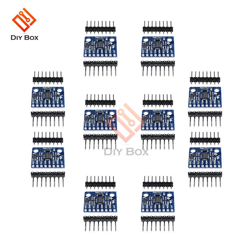 10PCS GY-521 GY521 GY 521 MPU-6050 MPU6050 3 Axis Gyroscope Accelerometer Sensor Module 3V 5V Compatible For Arduino MPU 6050