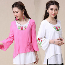 Nation Blusa Chinese Embroidery
