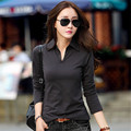 Tee Shirt Femme T Shirt Women Long Sleeve Tshirt Woman Womens Tops 2016 Black Clothes Plus Size XXL Women Casual T-shirt Mujer