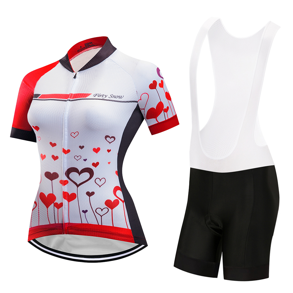 2018 Firty sonw Women Team Jersey Cycling Set Kit Women Breathable Blue Bike Bicycle Wear Maillot Ciclismo Cycling Clothing