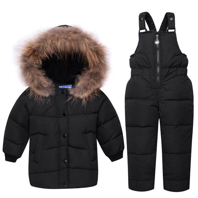 1aacde377 Bebé de plumas chaqueta de los niños Bebé Ropa establece caliente chaqueta  con capucha de manga