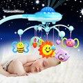 Mejor calidad sonajeros bebé toys proyección musical y girando bebé móvil musical campana de la cama con 50 música para 0-12 meses