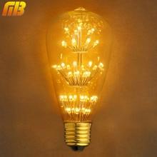 Retro Star Edsion Christmas tree Antique LED Bulb E27 220V 2W Warm White Loft Style Lampada Ampoule LED Bombilla