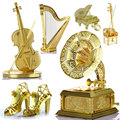 Creative 3D Metal Jigsaw Puzzles Musical Instruments DIY Manual Assembly Puzzle Golden Instrument Model Ornaments Education Toy