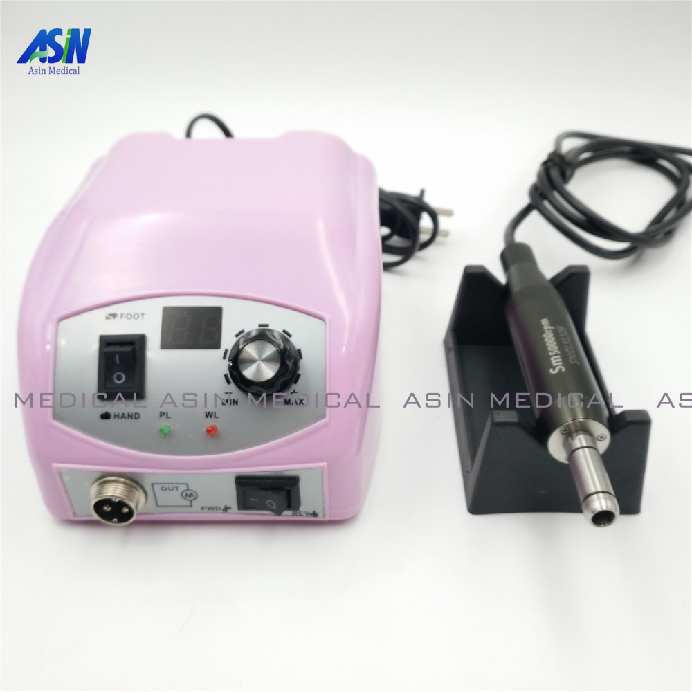 все цены на 50,000 RPM Non-Carbon Brushless Dental Micromotor nail Pedicure Polishing Unit with E type lab handpiece онлайн