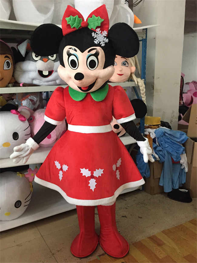 dac62a216704c Minnie Mouse Mickey Mascot Costume Cartoon Character Birthday Party Fancy  Cosplay Dress Adult Mickey Mouse Adult