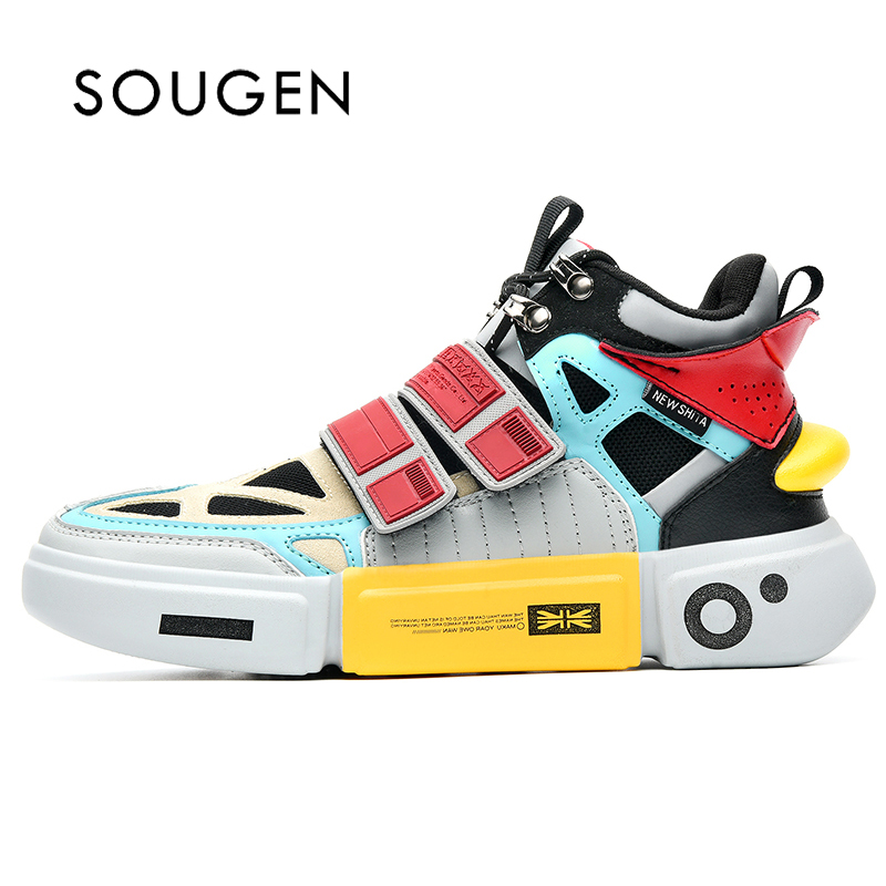 Chaussures hommes adultes Krasovki hommes chaussures de Sport pour hommes formateurs hommes Superstar grande cheville chaussures de Sport plate-forme chaussures de mode 2019