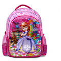 5D Sophia princess school bag for girls cute baby book bag child backpack fashion bag girls kids schoolbag children bag