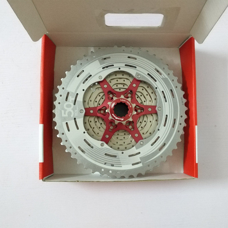 SunRace CSMX80 50T 11 Speed MTB Bike Cassette Mountain bicycle Freewheel Wide Ratio Freewheel 11 50T in Bicycle Freewheel from Sports Entertainment
