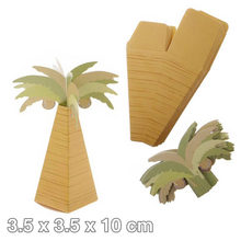 25pcs Mini Coconut Tree Design Wedding Candy Boxes Hawaiian Style Paper Gift Boxes for Wedding Party Christmas Favors(China)