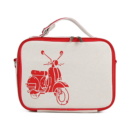 Portable Thermal Lunch Bag Cooler Insulated Lunch Bags Carry Tote Bag Picnic Storage Bag Case Accessories Red