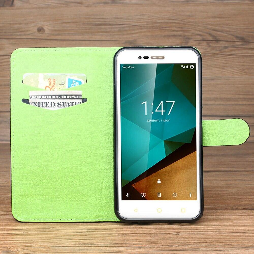 Caixa-do-telefone-Para-Vodafone-Inteligente-Prime-Prime-7-Carteira-Caso-de-couro-Do-Telefone-Para