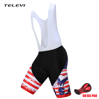2017 Teleyi American Flag PRO TEAM Profession Race Cycling Bib Shorts Bib Pant 5D Lycra And