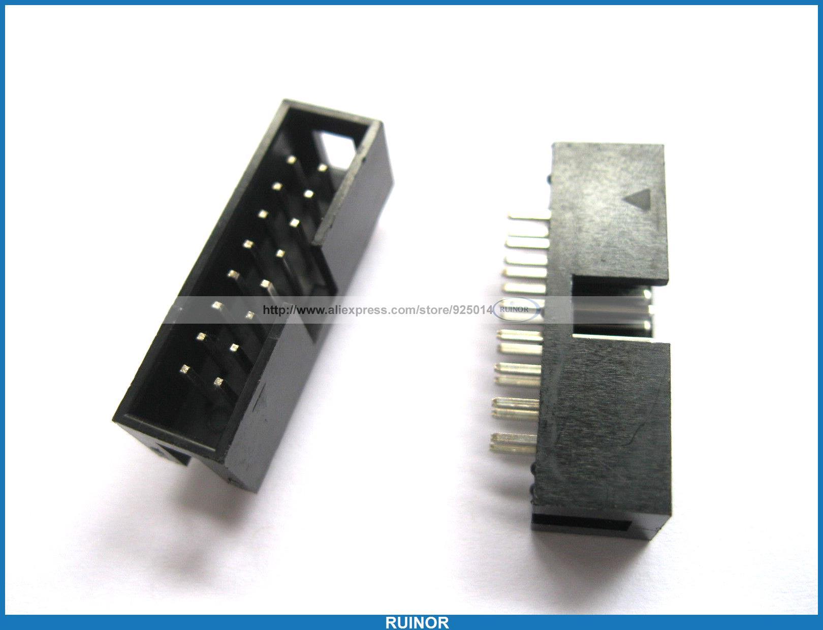180 Pcs 16 Pin Male Box Header Connector 2.54mm New бензиновая электростанция с электростартером и коннектором автоматики fubag bs 8500 a es 838253