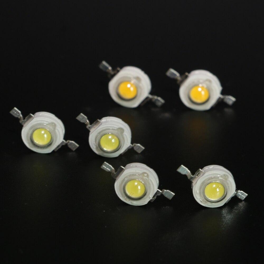 10 Uds. 1W 3W 5W de alta potencia cc 3,2-3,6 V LED perlas de luz diodo LED Chip SMD blanco cálido para foco Downlight bombilla de lámpara DIY