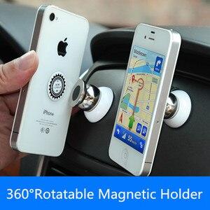Image 4 - 360 stopni uniwersalny uchwyt samochodowy telefon magnetyczny telefon komórkowy Air Vent góra akcesoria do telefonów komórkowych stojak GPS wsparcie dla Samsung