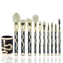 7/10Pcs Pola Ular Makeup Brush Set Maquiagem Besar Concealer Kontur Eye Shadow Kosmetik Sikat Blush Blending Brush NA3(China)