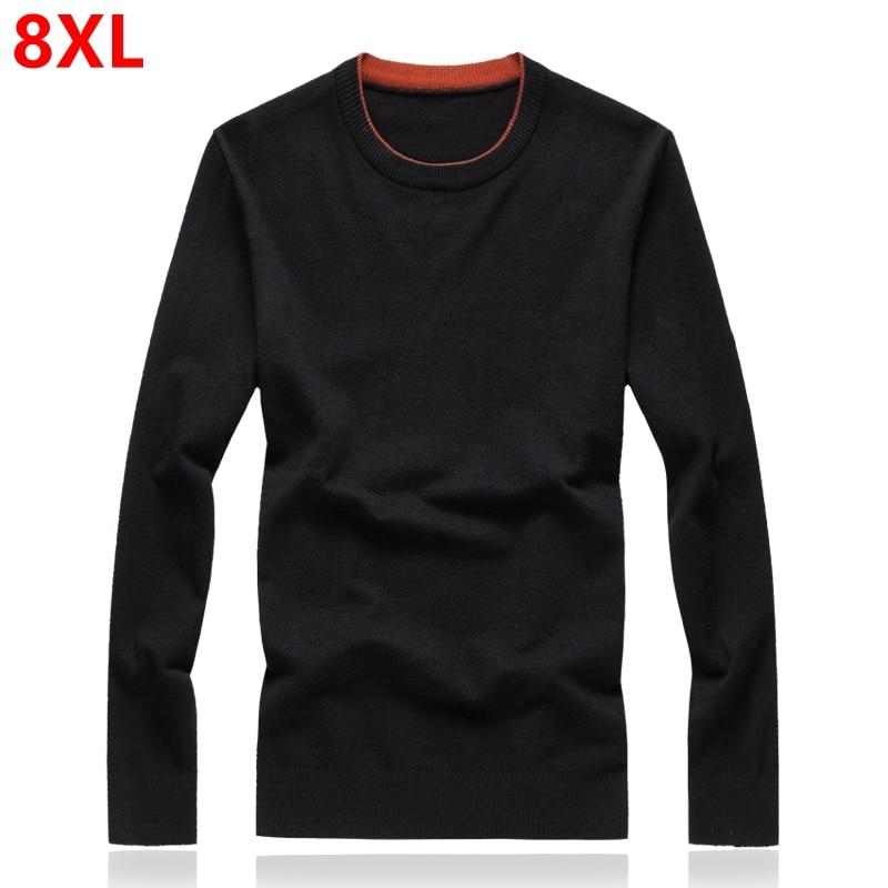 Large Size Sweater Male Plus Size 7XL Loose Winter Sweater Big Size Sweater