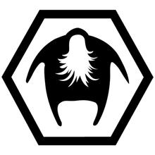 цена на CK2469#15*13.5cm Bearded man Jdm funny car sticker vinyl decal silver/black car auto stickers for car bumper window car decor