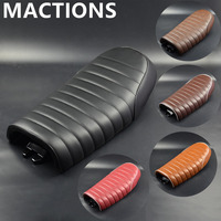Motorcycle Hump Custom Vintage Cushion Flat Brat Tracker Seat Saddle For Honda CB CL Retro Cafe Racer Black Brown Red