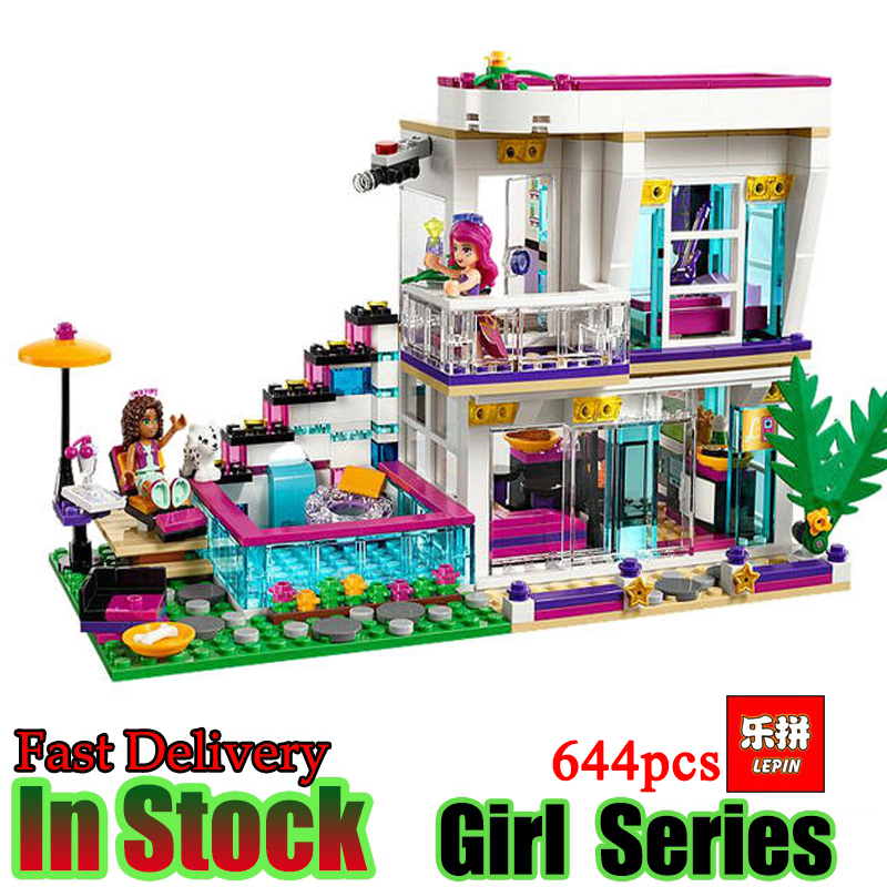 Lepin 01046 Girls Club Friends Livis Pop Star house Building Blocks Compatible With Friends House 41135 Brick Toys