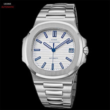 Automatic Mechanical Watch Men Sapphire Crystal Stainless Steel Men Watches Luxury Brand Designer Waterproof Watch Mens 2019 nakzen ladies watch stainless steel sapphire crystal watches automatic mechanical diamond crystal black female watches clock