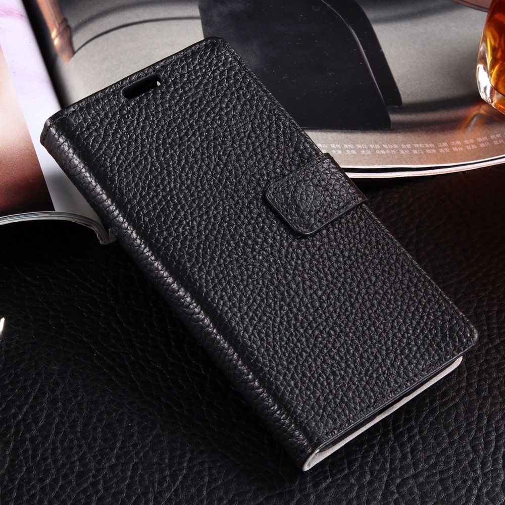 Luxury Genuine Leather Wallet Case for LG K8 5 0 Litchi Pattern Flip Phone Cover Card