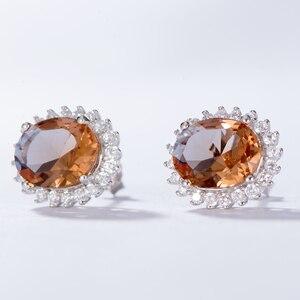 Image 3 - Kuololit zultanite宝石用原石のイヤリング固体925スターリングシルバー作成色変更diasporeソーダ石イヤリング
